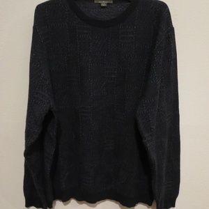 Ermenegildo Zegna wool plaid crew neck sweater XL